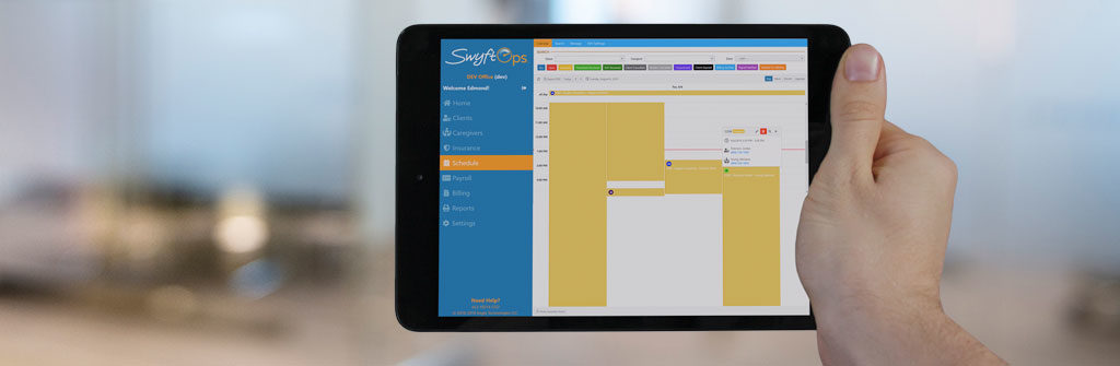 SwyftOps iPad app for home care agencies