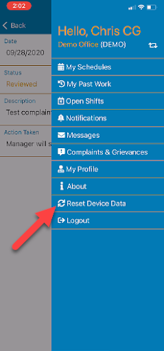 caregiver app profile features